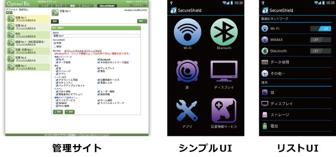SecureShield」画面イメージ
